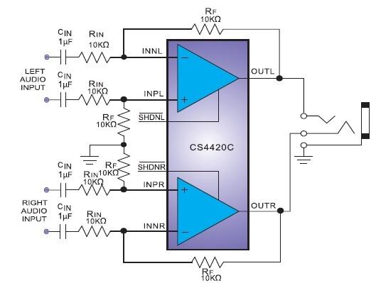 带关断功能130mw差分输入无输出电容立体声g类耳机