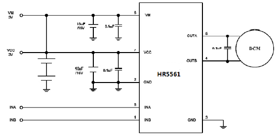 at5561/hr5561(玩具单通道直流电机驱动器)