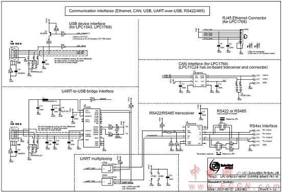 图6.lpc1549马达控制板电路图(3)