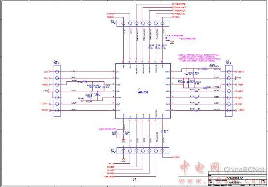 图6.评估板akd4558-a电路图(1)
