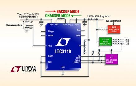 ltc3110 双向,输入电流可编程的降压-升压型超级电容器充电器