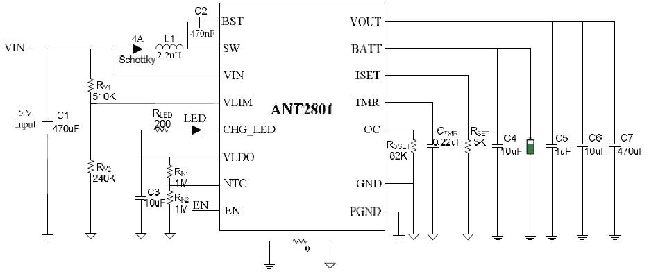 典型应用电路(5v2a 适配器)