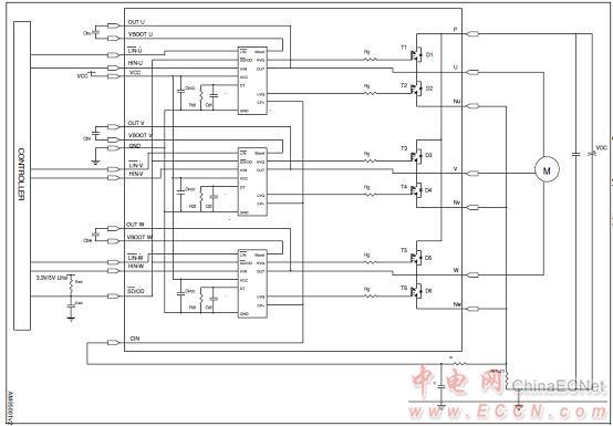 stgips20c60应用电路图 steval-ihm034v2马达控制板   the steval