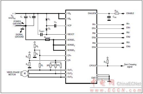 l6230六步零交叉检测应用电路 stm32 nucleo pack foc和六步马达控制