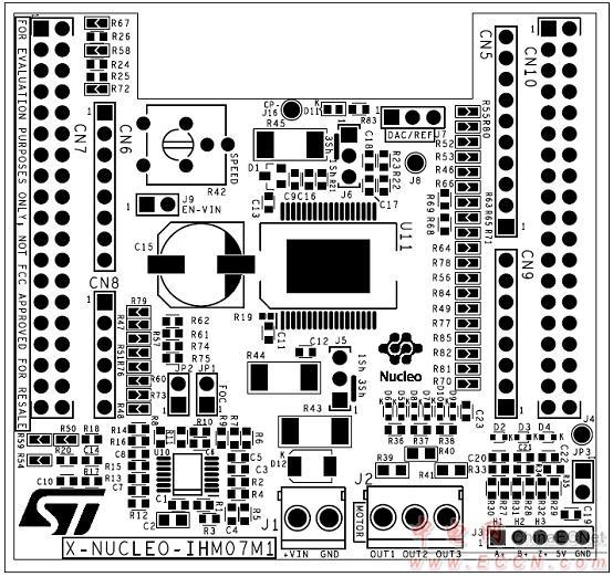 马达控制平台p-nucleo-ihm001电路图:stm32 mcu引脚   马达控制平台p