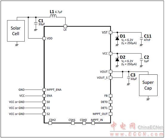 mb39c831恒压模式应用电路:mppt