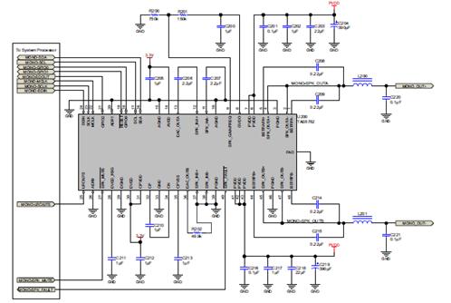 1(立体btl 外部单声道放大器)应用电路图 评估板tas5782mevm   the