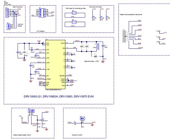 图4.评估模块drv10983-q1 evm电路图