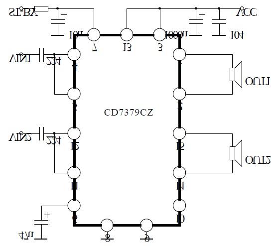 cd7379/tda7379 2.1音箱ab类音频功放ic应用原理说明