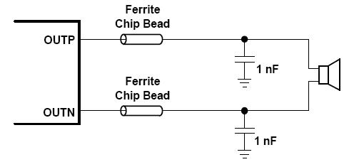 1w无滤波器d类音频功率放大ic产品功能及应用电路原理图说明