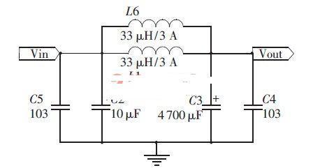 低通滤波电路采用lc滤波电路,滤波电容为4700μf电解电容和0.