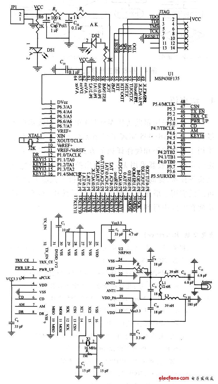 发射器硬件原理图