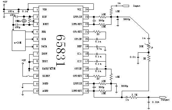 卡拉ok延时混响电路ic功能特点及应用电路原理图说明