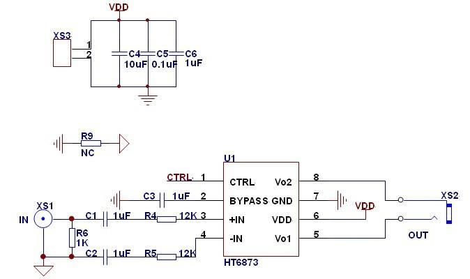 4w单声道d类音频功放ic)替换lm4871/csc8002
