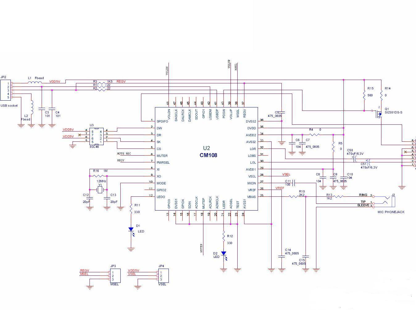 应用电路原理图说明