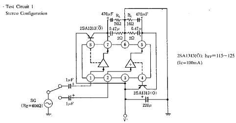 放大器正相输入   3.v+    4. 偏置   5. (b)输出   6.