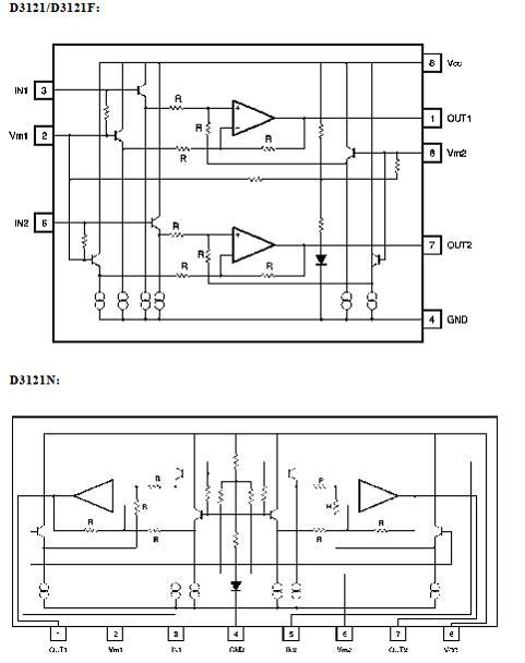 ba3121/d3121 地隔离放大器电路ic性能特点及应用电路