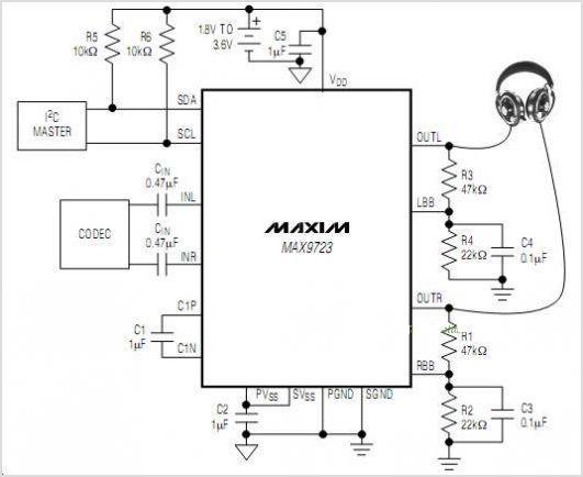 directdrive耳机放大器ic电路特点及应用原理图介绍