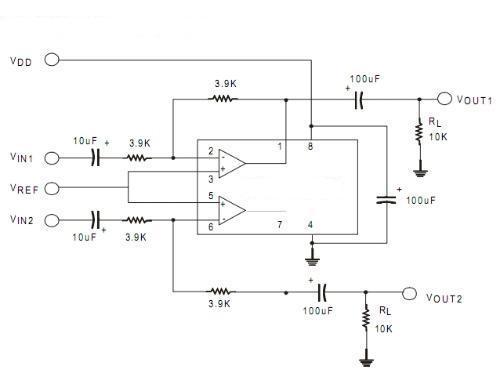 tda1308制作的耳机放大器原理图;