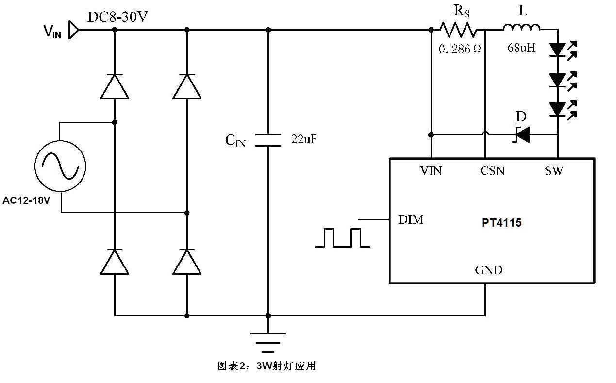 2a高调光比led恒流驱动器ic电路特点及>