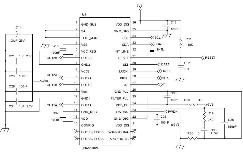 7w 3w/2x1.4 3w/3w双声道数字i2s音频输入功放ic)