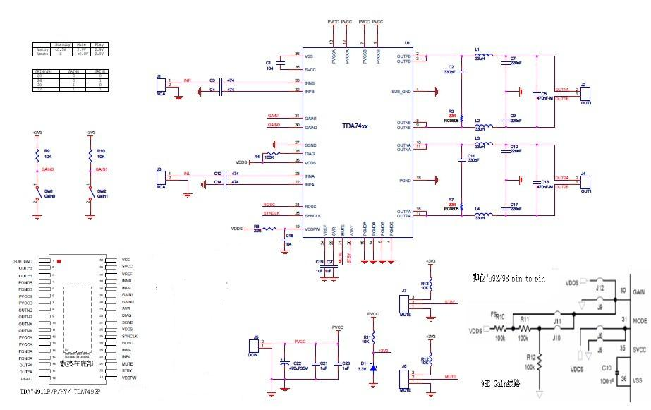 功放ic应用电路原理图说明