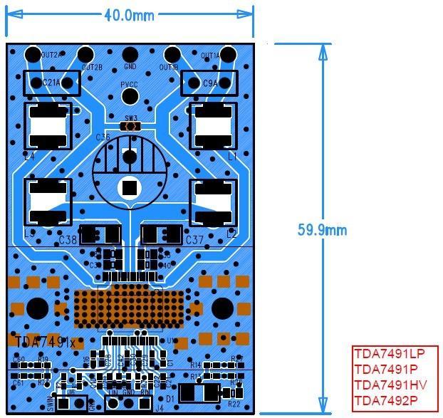产品概述 TDA7491LP/TDA7491P/TDA7491HV/TDA7492P是双BTL D类音频放大器,主要用在家庭影院和有源扬声器. TDA7491LP/TDA7491P/TDA7491HV/TDA7492P单电源供电,效率高达90%,采用PowerSSO-36封装,整个系列管教兼容,便于客户设计应用。 性能介绍