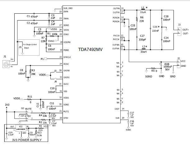 tda7492mv(50w单声道d类音频放大器)