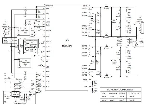 tda7498l(2x80w双声道d类功放ic)