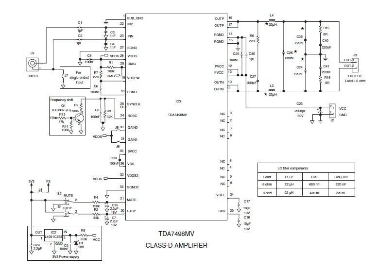 tda7498mv(100w单声道d类功放ic)