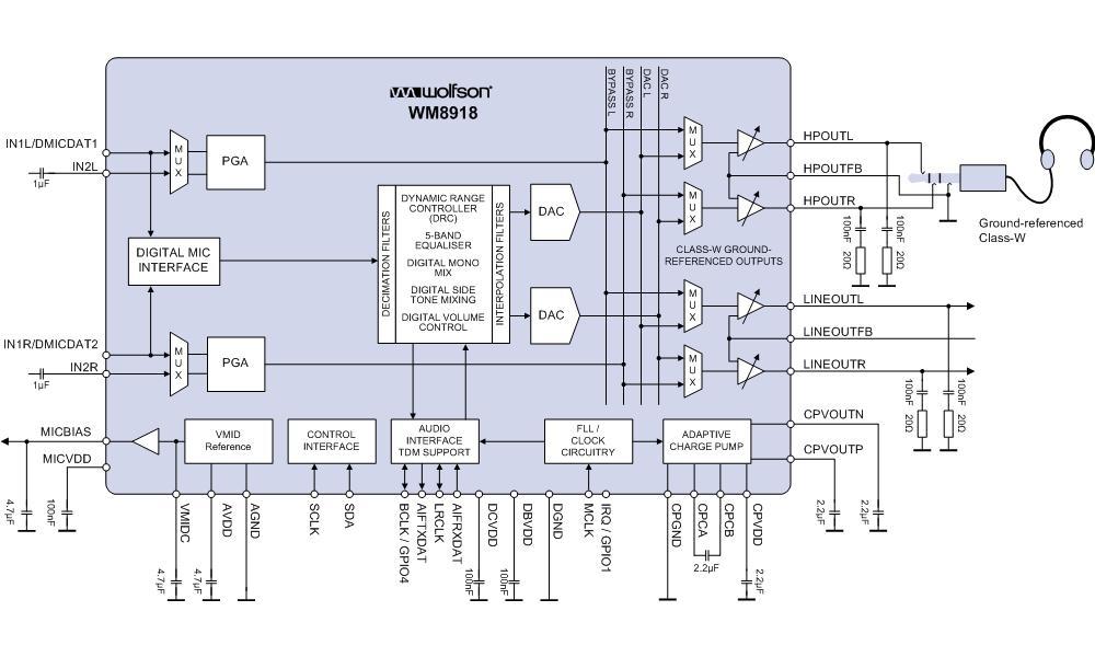 功能机音频ic电路图
