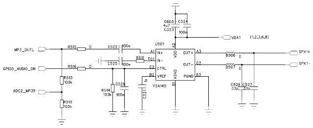yda145 d类音频功率放大器对射频指标干扰分析